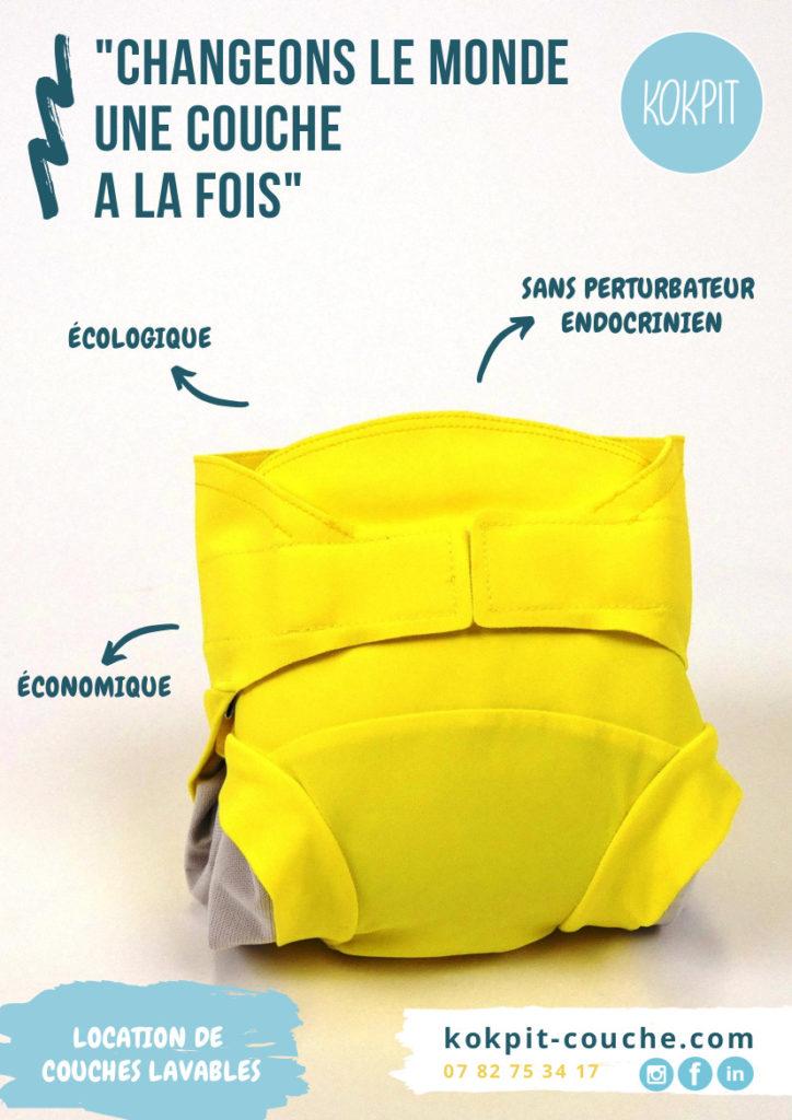 Kokpit couche lavable, solution de location de couches